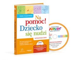 Grafika książki z płytą_poradnik_na_pomoc_dziecko_sie_nudzi
